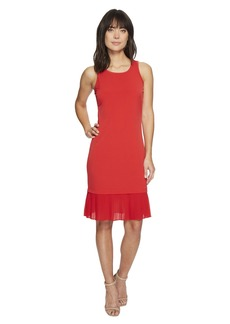 Pleat Hem Tiered Dress