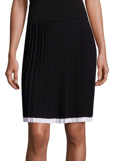 MICHAEL MICHAEL KORS Pleated Colorblock Skirt