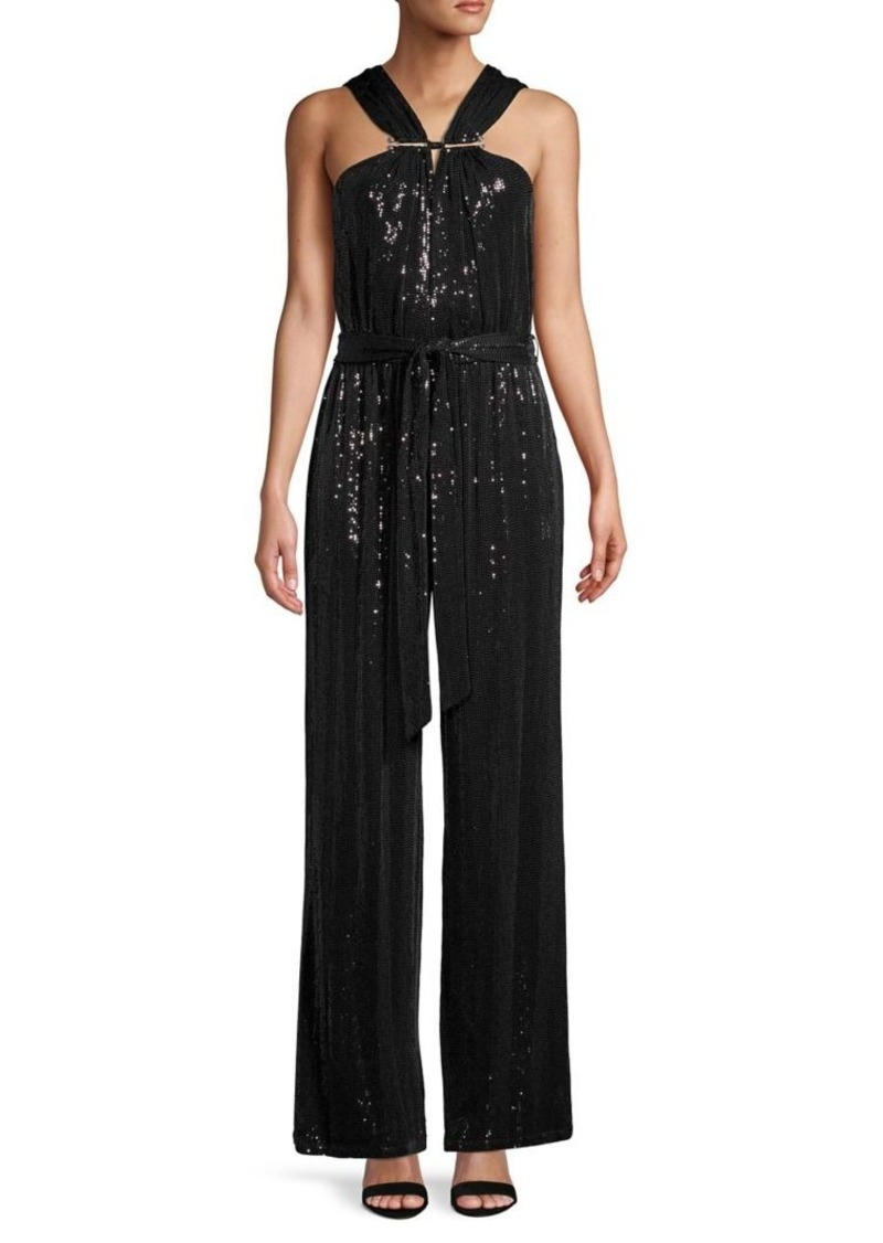 MICHAEL Michael Kors Pleated Embellished Jumpsuit