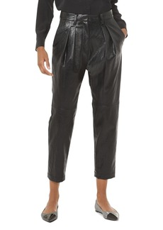 MICHAEL Michael Kors Pleated Faux-Leather Pants