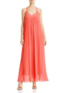 MICHAEL Michael Kors Pleated Grommet Maxi Dress