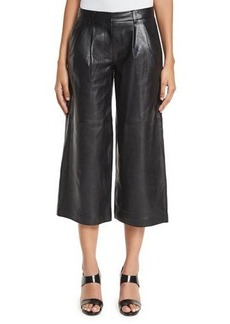 MICHAEL Michael Kors Pleated Leather Culottes