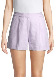 MICHAEL Michael Kors Pleated Linen Shorts