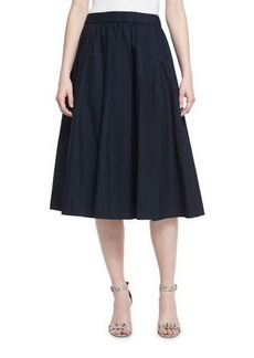 MICHAEL Michael Kors Pleated Poplin Tea-Length Skirt
