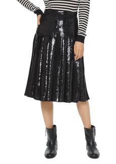 MICHAEL Michael Kors Pleated Sequined Georgette Midi Skirt