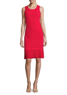 MICHAEL Michael Kors Pleated Tier Sheath Dress