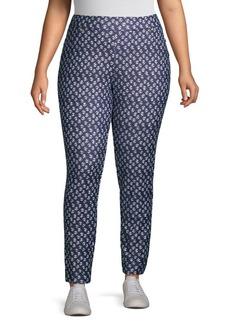 MICHAEL Michael Kors Plus Abstract Batik High-Rise Pocket Leggings