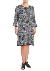 MICHAEL MICHAEL KORS Plus Plus Cat Flounce Dress
