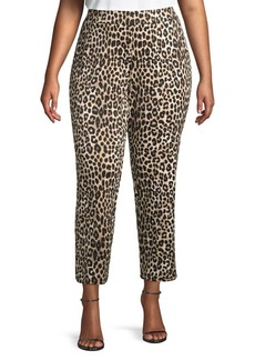 MICHAEL Michael Kors Plus Cheetah-Print Tapered Pants