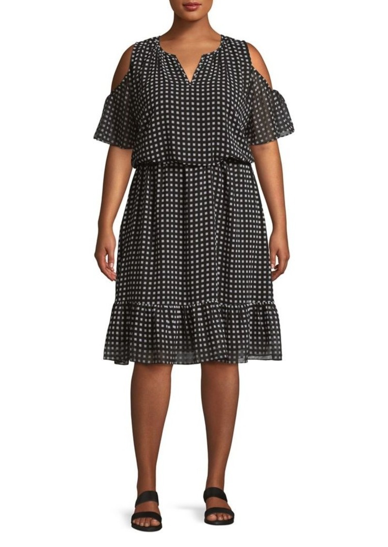 f41d082d30 MICHAEL Michael Kors MICHAEL Michael Kors Plus Cold-Shoulder Dress ...