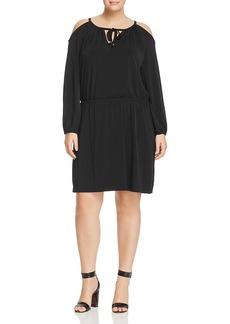 Michael Michael Kors Plus Cold Shoulder Dress