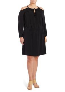 MICHAEL MICHAEL KORS Plus Cold-Shoulder Dress