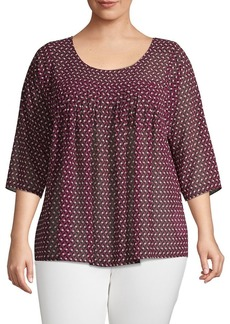 MICHAEL Michael Kors Plus Diamond Geo Blouse