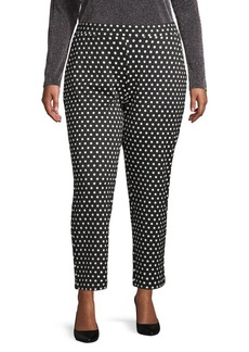 MICHAEL Michael Kors Plus Dotted Pull-On Pants