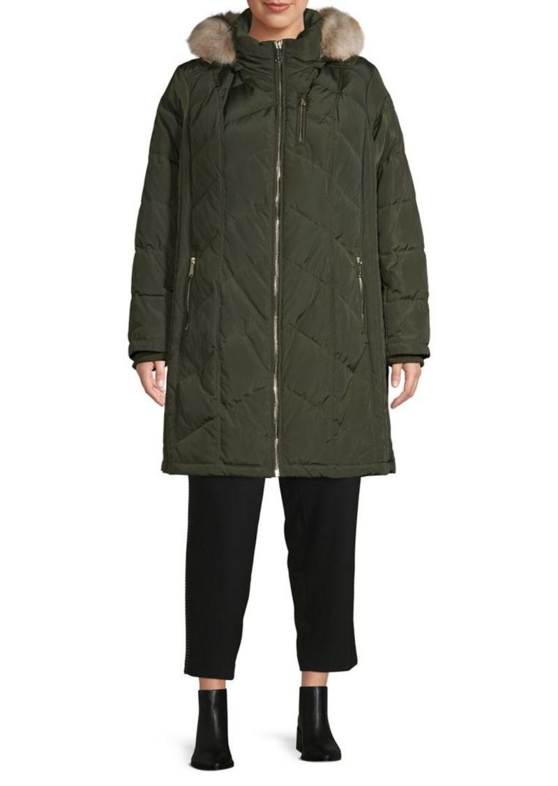 MICHAEL Michael Kors Plus Faux Fur Hooded Coat