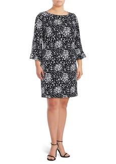 MICHAEL MICHAEL KORS Plus Floral Bell-Sleeve Shift Dress