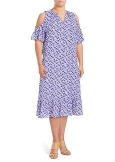 MICHAEL MICHAEL KORS Plus Floral-Print Midi Dress