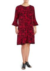 MICHAEL MICHAEL KORS Plus Garden Flounce Dress