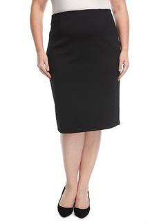 MICHAEL Michael Kors Plus Gardenia Jacquard Pencil Skirt