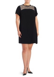 MICHAEL MICHAEL KORS Plus Jewelneck Shift Dress