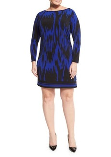 MICHAEL Michael Kors Plus Kilam Long-Sleeve Printed Dress