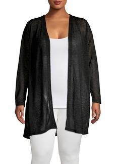 MICHAEL Michael Kors Plus Knit Open Front Cardigan