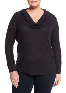 MICHAEL Michael Kors Plus Long-Sleeve Waffle-Knit Sweater