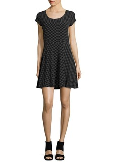 MICHAEL MICHAEL KORS Plus Dotted Cap Sleeved Dress