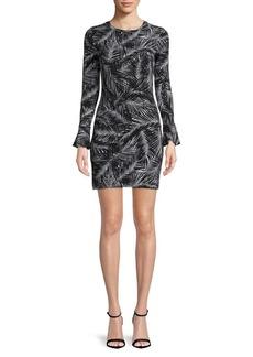 MICHAEL MICHAEL KORS Plus Palm Leaves-Print Sheath Dress