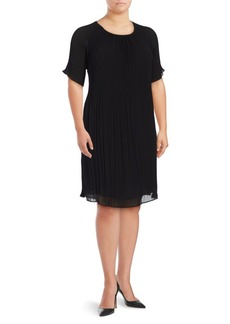 Michael Michael Kors Plus Pleated Flutter Dress
