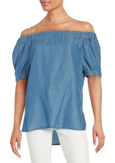 MICHAEL MICHAEL KORS Chambray Off-the-Shoulder Top