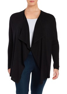 MICHAEL MICHAEL KORS PLUS Plus Cotton-Blend Flyaway Cardigan