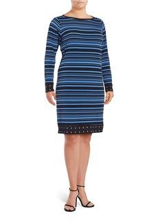 MICHAEL MICHAEL KORS PLUS Plus Striped Shift Dress