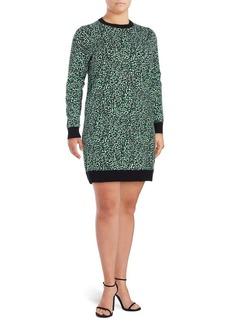 MICHAEL MICHAEL KORS Plus Printed Long-Sleeve Dress