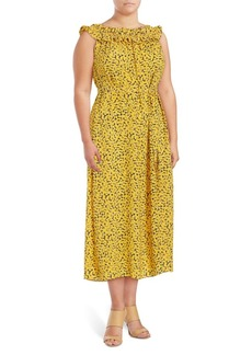 Michael Michael Kors Plus Printed Midi Dress