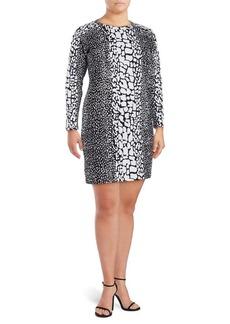 MICHAEL MICHAEL KORS Plus Printed Raglan-Sleeve Dress