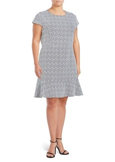 MICHAEL MICHAEL KORS Plus Printed Short-Sleeve Mini Dress