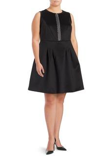 MICHAEL MICHAEL KORS Plus Rhinestone-Embellished Fit-and-Flare Dress