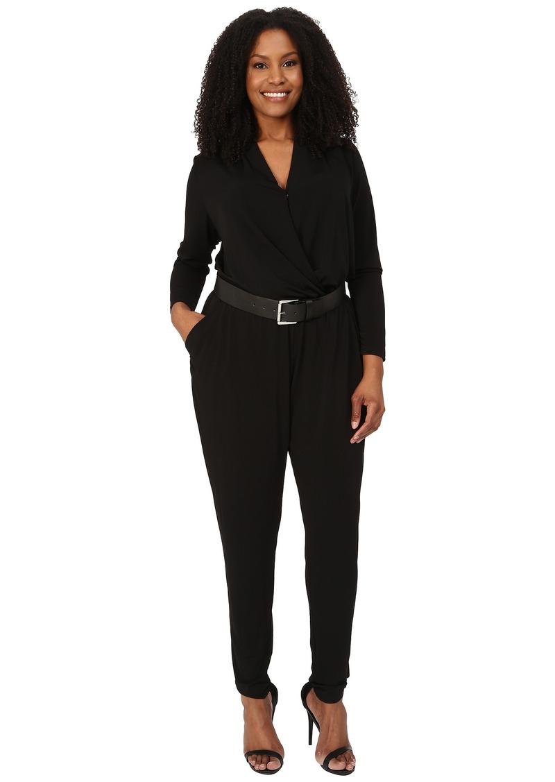 MICHAEL Michael Kors Plus Size Belted Jumpsuit