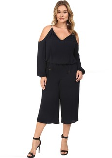 MICHAEL Michael Kors Plus Size Cold Shoulder Jumpsuit