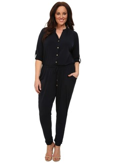 MICHAEL Michael Kors Plus Size Roll Sleeve Raglan Jumpsuit