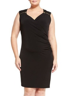 MICHAEL Michael Kors Plus Sleeveless Ruched Dress