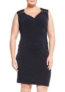 MICHAEL Michael Kors Plus Sleeveless Sweetheart-Neck Dress