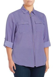 MICHAEL MICHAEL KORS Plus Stamped Mod Geo Blouse