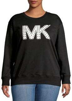 MICHAEL Michael Kors Plus Studded-Logo Sweatshirt