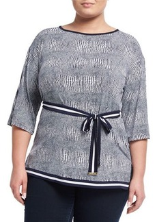 MICHAEL Michael Kors Plus Zephyr Bordered Tunic
