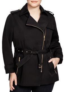 Michael Michael Kors Plus Zip Trench Coat