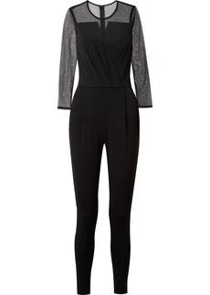 MICHAEL Michael Kors Point d'esprit tulle and stretch-jersey jumpsuit