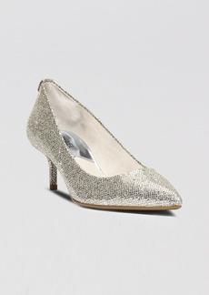 MICHAEL Michael Kors Women's MK Flex Pointed Toe Kitten Heel Pumps