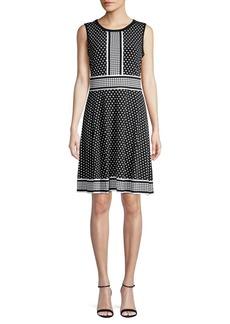 MICHAEL Michael Kors Polka-Dot A-Line Dress